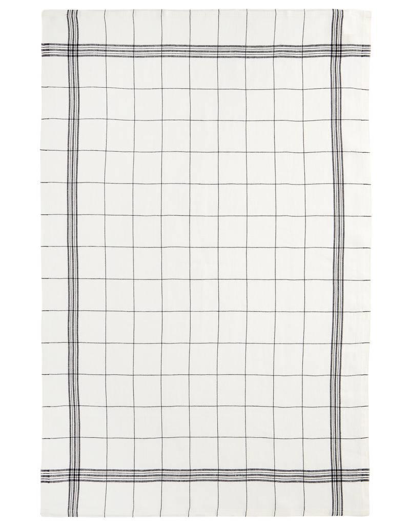 "Charvet Editions - Bistro/Tea Towel Black/White Bistro Lave - 20""x30"""