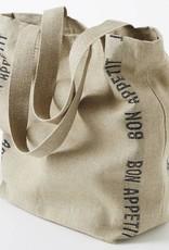 "Charvet Editions - Bag/Natural & Black Bon Appetit 18""x20"""