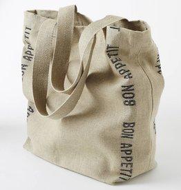 "Charvet Editions Charvet Editions - Bag/Natural & Black Bon Appetit 18""x20"""