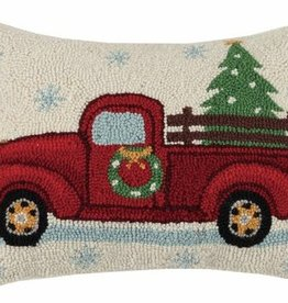 Pillow -Holiday Tree on Red Truck- 14X18