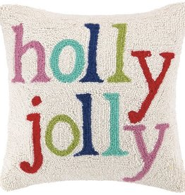"Pillow - Holly Jolly Multi - 16"" x 16"""