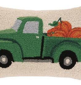 "Pillow - FALL TRUCK W/PUMPKIN - 18"" Oblong"