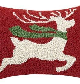 "Pillow - Prancing Reindeer -  12"" Oblong"