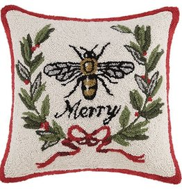 "Pillow - Merry Bee - 18"" x 18"""