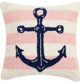 "Pillow - Pink Strip Anchor - 16"" x 16"""