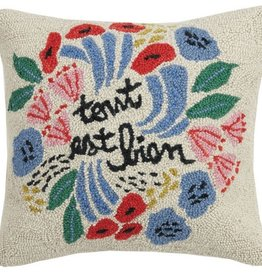"""Pillow - Tout Est Bien - 18"""" x 18"""""""