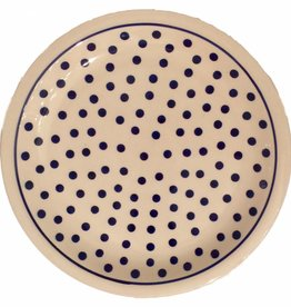 Dinner Plate - White/Blue Dots