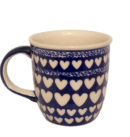 Mug - Blue With White Hearts
