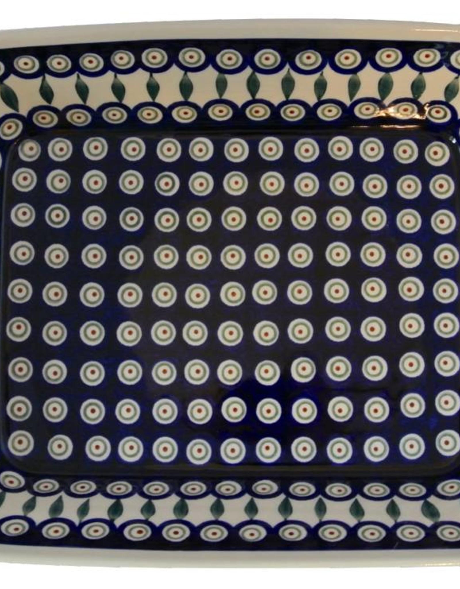 Casserole Lrg - Peacock Pattern
