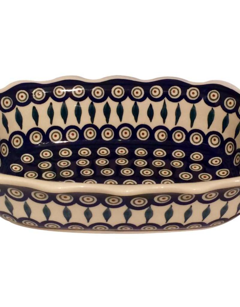 Scalloped Dish - Peacock