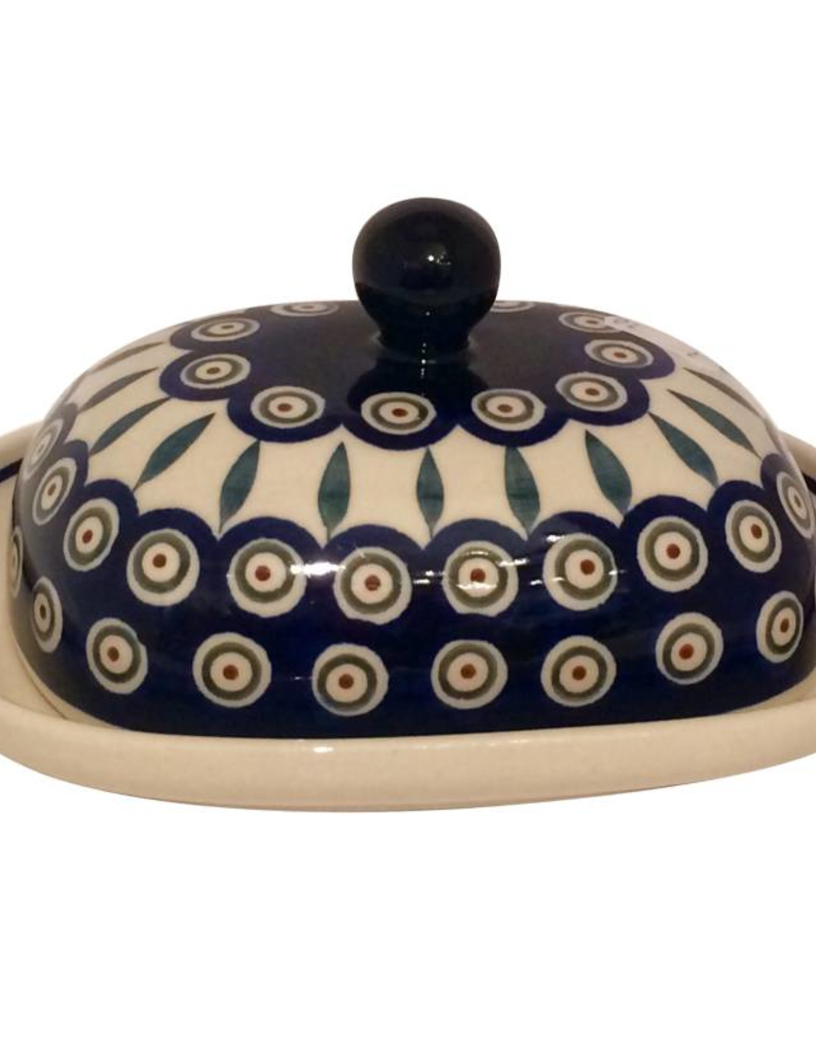 Butter Dish - Peacock