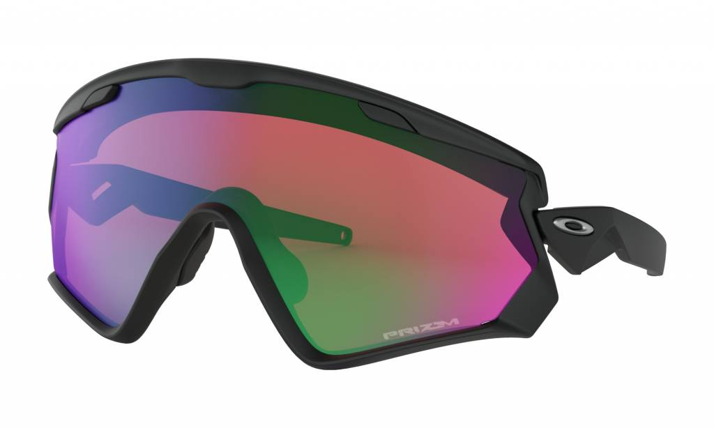 Oakley Oakley Wind Jacket 2.0 Matte Black w/ Prizm Snow Jade