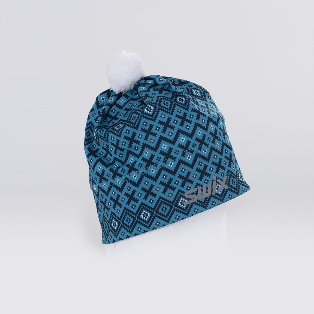 Swix Myrene Hat Turquoise Print