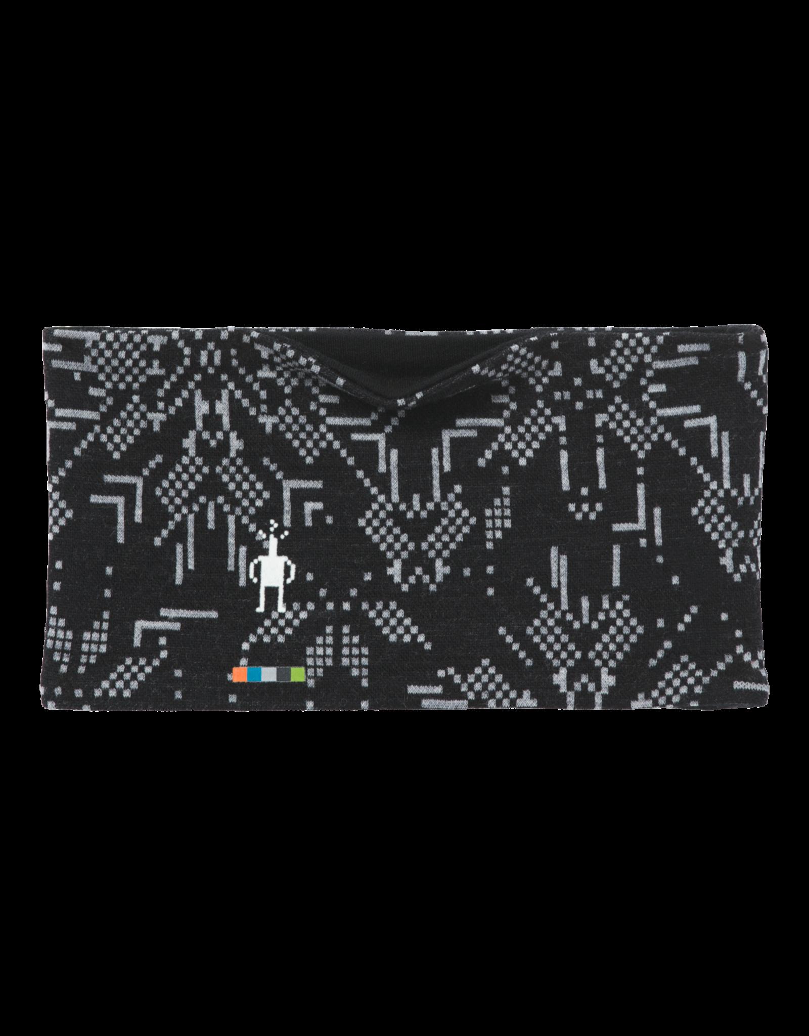 Smartwool Merino 250 Pattern Reversible Headband Black Digital Snowflake