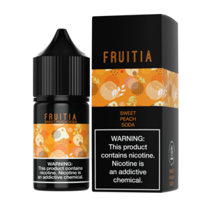 Fruitia Sweet Peach Soda Nic Salt 30ml