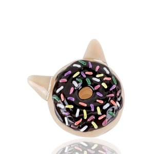 Empire Glassworks Dry Pipe -  Chocolate Kitty Donut