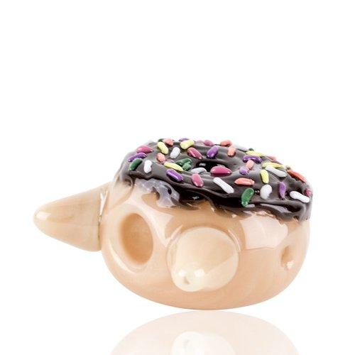 Empire Glassworks Empire Glassworks Dry Pipe -  Chocolate Kitty Donut