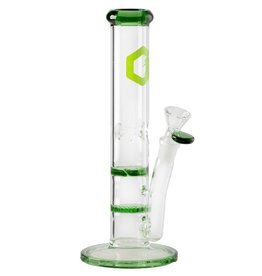 Greenhouse 10'' Straight Green With Honeycomb and Turbine Percs