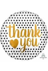 "Thank You Modern Dot 18"" Mylar Balloon"
