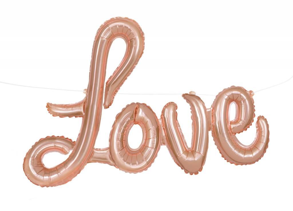 "Rose Gold ""Love"" Script Air-Filled Balloon (Will Not Float)"