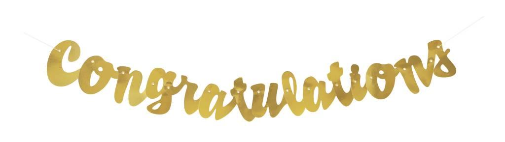 Gold Congratulations Script Banner