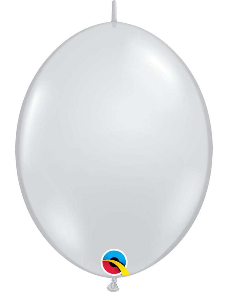 "12"" Diamond Clear Quick Link Balloons 1 Dozen Flat"