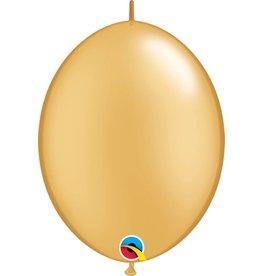 """12"""" Gold Quick Link Balloons 1 Dozen Flat"""