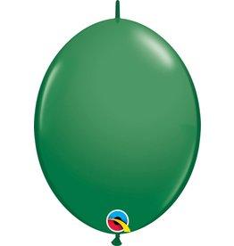 """12"""" Green Quick Link Balloons 1 Dozen Flat"""