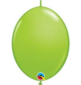 """12"""" Lime Green Quick Link Balloons 1 Dozen Flat"""