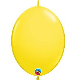 "12"" Yellow Quick Link Balloons 1 Dozen Flat"