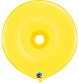 "16"" Geo Donut Citrine Yellow Balloon Flat"