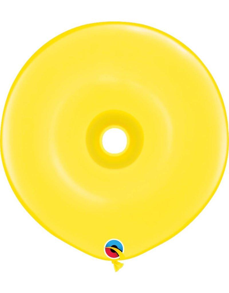"""16"""" Geo Donut Citrine Yellow Balloon Flat"""