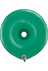 "16"" Geo Donut Emerald Green Balloon Flat"
