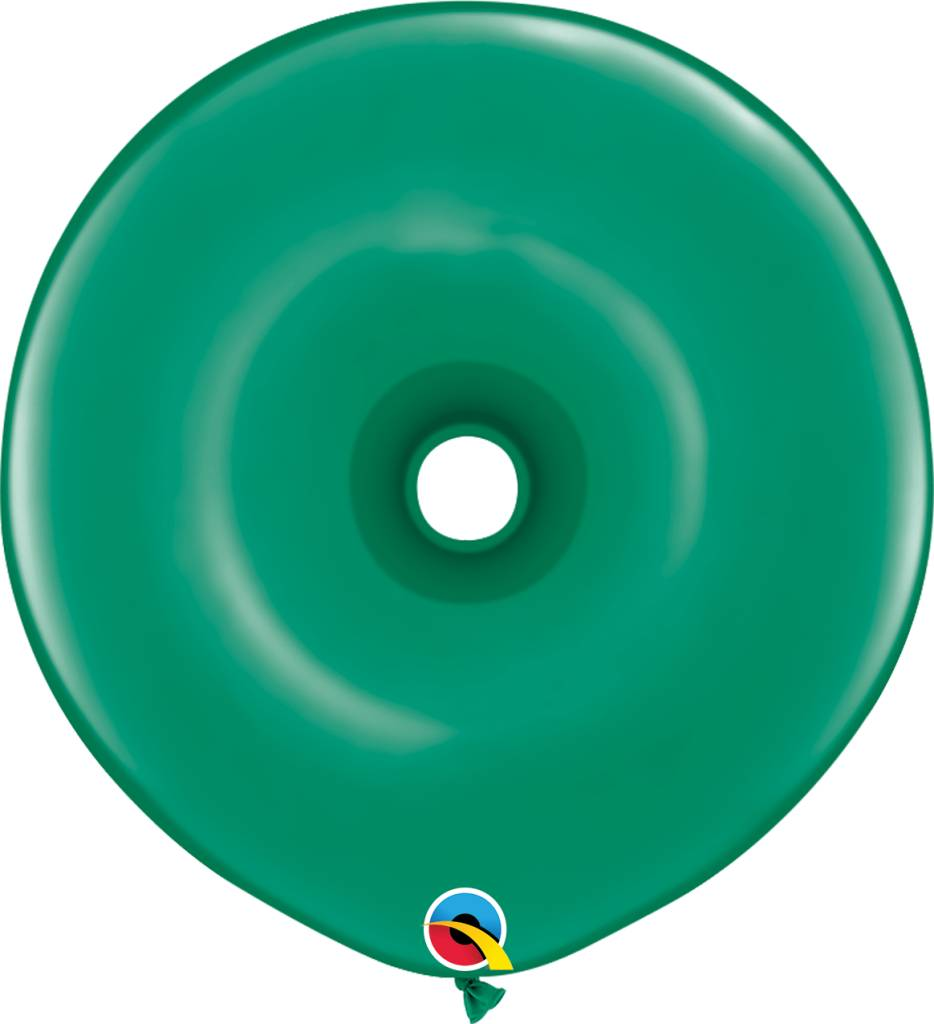 "16"" Geo Donut Emerald Green Balloon Flat"