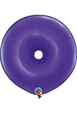 "16"" Geo Donut Quartz Purple Balloon Flat"