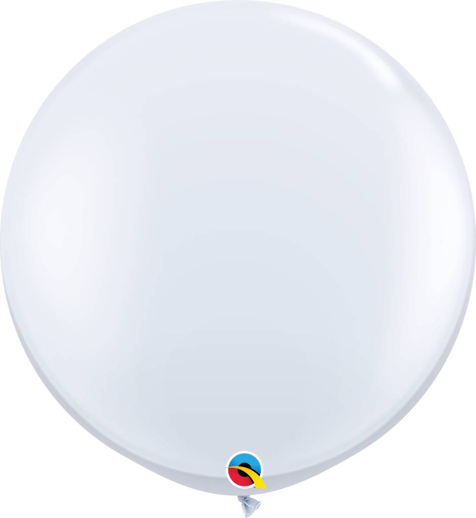 "30"" Balloon Pearl White Flat"