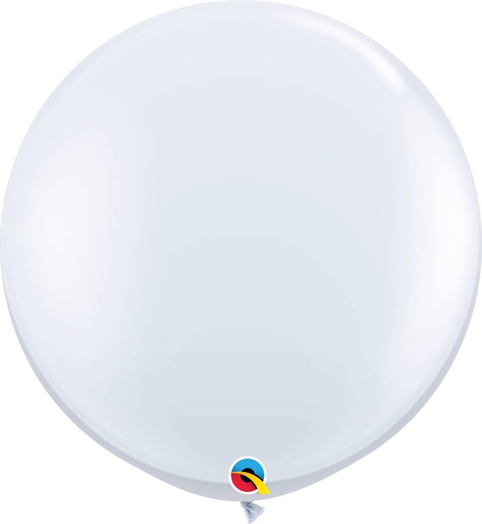"30"" Balloon Pearl White Flat"