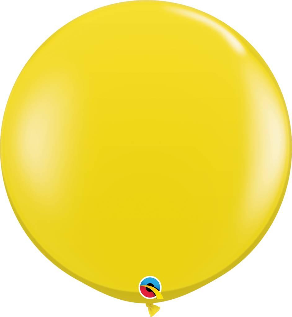 "36"" Balloon Citrine Yellow Flat"