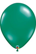 "16"" Balloon Pearl Emerald Green 1 Dozen Flat"