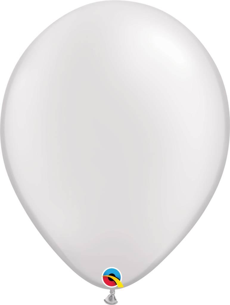 """16"""" Balloon Pearl White 1 Dozen Flat"""