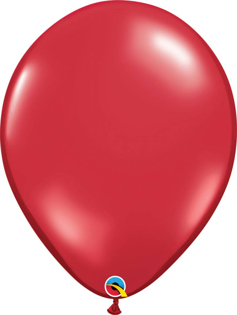 "16"" Balloon Ruby Red 1 Dozen Flat"