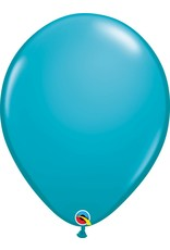 "16"" Balloon Tropical Teal 1 Dozen Flat"