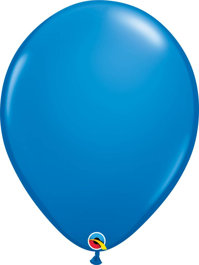 "16"" Dark Blue Balloon 1 Dozen Flat"