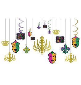 Mardi Gras Glitter Chandelier Decorating Kit
