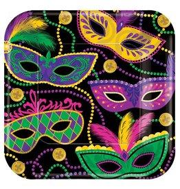 Mardi Gras Masks Large Plates (8)