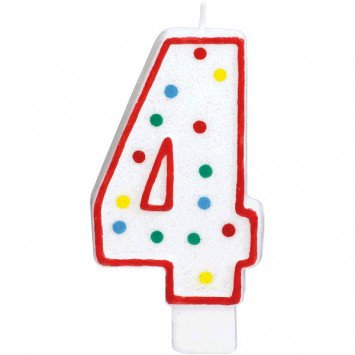 #4 Numeral Candle