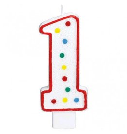 #1 Numeral Candle