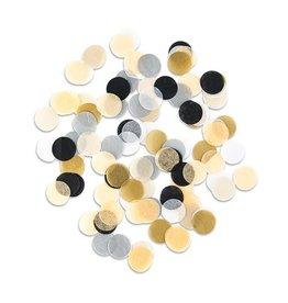 Jumbo Paper Tissue Confetti Gold/Silver/Black