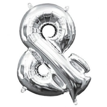"Balloon Air-Filled Symbol ""&"" - Silver (Will Not Float)"