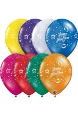 "11"" Jewel Tone New Year Party Balloon 1 Dozen Flat"
